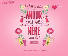 Infographie - Testez votre amour pour votre mère en un clic ! L'Occitane