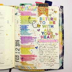 Bible Journaling by Arden Ratcliff-Mann Bible Study Journal, Journal Pages, Journal Art, Art Journaling, Bible Art, Bible Verses, Get Closer To God, Bible Illustrations, Faith Bible