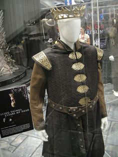 """From """"Game of Thrones"""" worn by Mark Addy as Robert Baratheon design by Michele Clapton"""