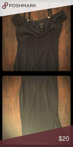 Jessica Simpson- New Black Dress Size 10 off the shoulder and knee length Jessica Simpson Dresses Midi