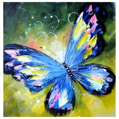 Imagen relacionada Butterfly Painting, Butterfly Watercolor, Butterfly Art, Butterflies, Collage Kunst, Art Watercolor, Butterfly Pictures, Wow Art, Art Drawings