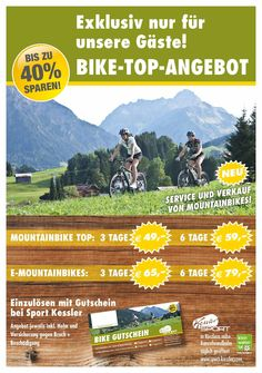 Sport Kessler - Mountainbikes zum Ausleihen - Direkt über Gatterhof Riezlern Comic Books, Sport, Comics, Cover, Summer Vacations, Viajes, Deporte, Sports, Cartoons