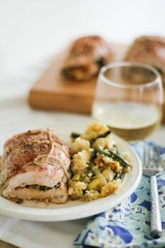 Spinach, Sundried Tomato & Asiago Stuffed Turkey Breast