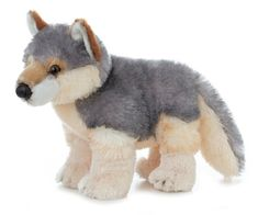 "12"" WILY the stuffed animal wolf is part of the Flopsie Wildlife collection"
