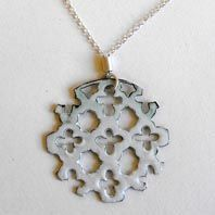 Enamelled silver pendant by Joanne Hill available at Franny & Filer jewellery shop in Chorlton - www.frannyandfiler.com - £76