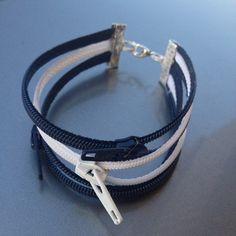 Triple zipper bracelet