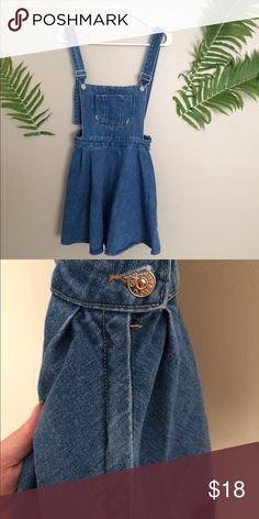 Jean overall dress *jean overall dress *size small *button and zipper on side of skirt area Dresses Mini