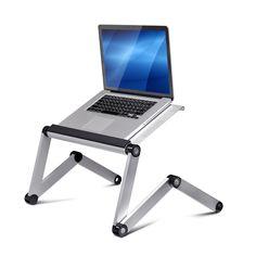 Furinno Ergonomics Aluminum Vented Adjustable Multi-functional Laptop Desk Portable Bed Tray (A6)