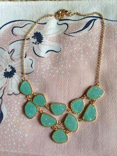 Stitch and Stone — Druzy Bib Necklace