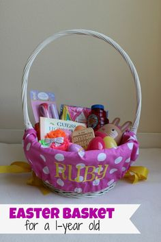 Easter basket ideas for babies and toddlers 95 ideas and free easter basket for one year old ideas that arent useless andor candy negle Images