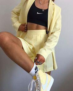 Behind The Scenes By lessisworefemales Cute Comfy Outfits, Trendy Outfits, Summer Outfits, Tennis Outfits, Tennis Clothes, Shoes Tennis, Tennis Sneakers, Aesthetic Fashion, Aesthetic Clothes