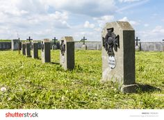 Biskupice Radlowskie, Poland - May 15, 2015: Gravestones In The Cemetery Of War Number 258. Graves Of Soldiers Who Fought During The First World War. Stock Photo 278206361 : Shutterstock