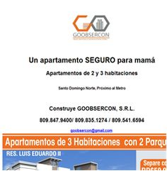 Un apartamento SEGURO para mamá  809.847.9400 - Publicidad