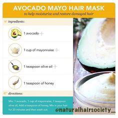 Avocado Mayo Hair Mask