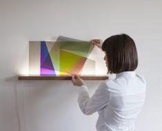 101,86° luminaire coloré par Thomas Vailly et Laura Lynn