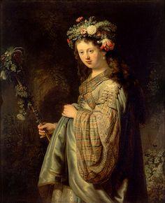 Flora. Rembrandt.1634. Oil on canvas. 125 X 101 cm. Hermitage Museum. St Petersburg.