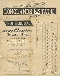 Poster Estate Map - Longlands Estate Vulture Street, South Brisbane1881