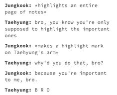 Taekook for life Namjin, Taekook, Bts Scenarios, Vkook Memes, Bts Texts, Bts Memes Hilarious, Bts Quotes, Hoseok, Seokjin