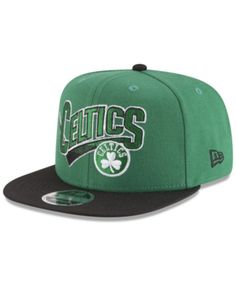 new style 4cda0 95f8b New Era Boston Celtics Retro Tail 9FIFTY Snapback Cap - Green Black  Adjustable