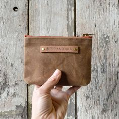 Waxed Canvas Pouch - Small