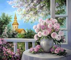 Fleurs fruits jardins en peintures 2 ( A.B)