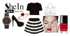 """Untitled #13"" by selma-imsirovic-01 ❤ liked on Polyvore featuring Ted Baker, Nly Shoes, Dolce&Gabbana, Chanel and Marc by Marc Jacobs"