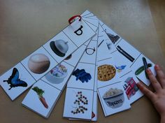 Another pinner: Letter Sound Activity Cards.This website has lots of other great letter sound activities. Letter Sound Activities, Alphabet Activities, Language Activities, Literacy Activities, Preschool Alphabet, Abc Phonics, Jolly Phonics, Kindergarten Literacy, Early Literacy
