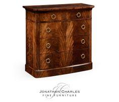 Early Victorian style mahogany chest of drawers #hpmkt #jcfurniture #jonathancharles #Furniture #InteriorDesign #decorex #Knightsbridge