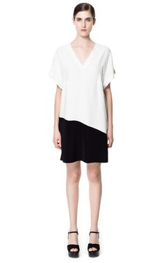 Image 1 of ASYMMETRIC COMBINATION DRESS from Zara
