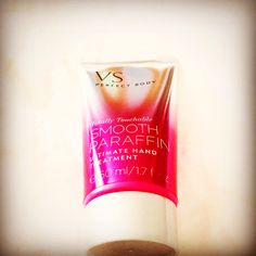 VS smooth paraffin hand treatment. Minimal scent so it won't ruin the perfume you have chosen for that day Nd it works very well for dry cracked sore hands