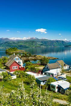 Camping ved Hardangerfjorden