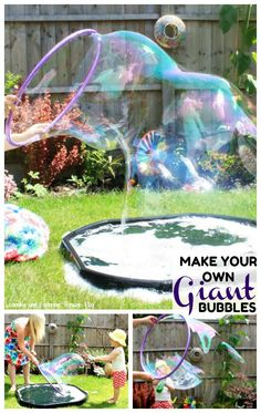 Summer Outdoor Party Games Giant Bubbles New Ideas Giant Bubble Recipe, Bubble Diy, Bubble Games, Bubble Party, Outdoor Water Games, Outdoor Party Games, Backyard Games, Outdoor Fun, Giant Outdoor Games