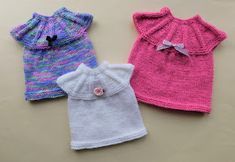 Ravelry: EVIE Baby or Baby Doll Dress pattern by marianna mel Knitting Dolls Clothes, Baby Doll Clothes, Crochet Doll Clothes, Baby Dolls, Babies Clothes, Babies Stuff, Baby Cardigan Knitting Pattern Free, Baby Hats Knitting, Charity Knitting