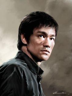 Bruce Lee by David Seguin, via Behance
