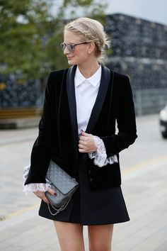 a look from london fashion week - The Style Scribe