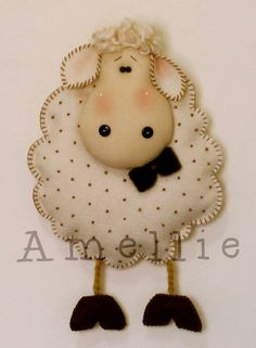 Another Pinner Posted:  *HERE's another one...FELT ART??... 2-Cute to resist! Yep, I pinned another one!