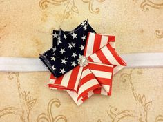 What an ADORABLE hair bow!   Fourth of July Red White and Blue Shabby Chic by SewLovelybyShana, $3.95