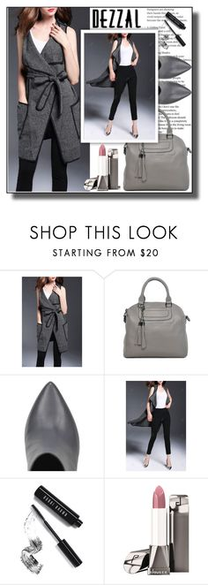 """""""Belted Lapel Collar Waistcoat 10"""" by ramiza-rotic ❤ liked on Polyvore featuring Marc Ellis and Bobbi Brown Cosmetics"""