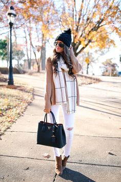 winter outfit inspo -white pants!!