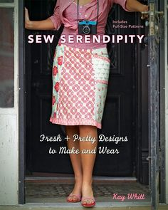 Squee! Retro-inspired pencil skirt + Mary Englebreit-ish fabric = love! From the Sew Serendipity book by Kay Whitt