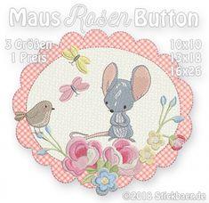 Maus-Rosen-Button