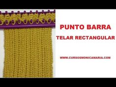 PUNTO BARRA TELAR RECTANGULAR // Tutorial Puntos Basicos Telar Maya