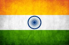 "The National flag of India is officially described in the Flag Code of India as follows: ""The color of the top panel shall be India saffron (Kesari) and that of the bottom panel shall be India green. The middle panel shall be white, bearing at its center the design of Ashoka Chakra in navy blue color with 24 equally spaced spokes."" The flag, by law, is to be made of khadi, a special type of hand-spun cloth of cotton or silk made popular by Mahatma Gandhi."