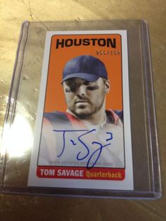 2014 Topps Football Tom Savage 1965 Mini Auto On Card # 55/150  MINT FROM PACK #TEXANS