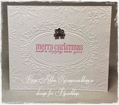 Nu är det jul igen - A clean and simple christmas card made by DT-Rosa. http://blog.pysseldags.com/2014/09/nu-ar-det-jul-igen.html http://shop.pysseldags.se