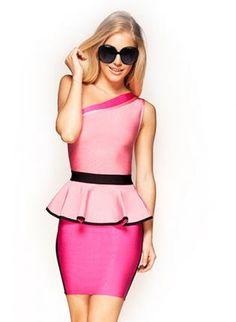 Red Sexy Dress - Bqueen Shoulder Skirt Bandage Dress $109.00