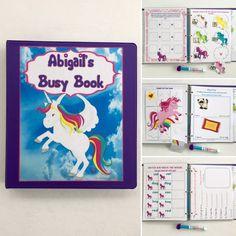 Unicorn Dry Erase/ Velcro Busy Book/ Quiet Book/Activity Book