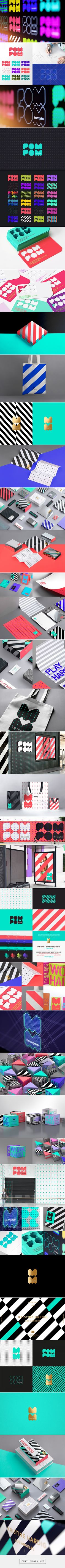POM POM - Brand Identity on Behance... - a grouped images picture - Pin Them All