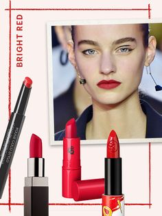 Color trends like bright red, unapologetic fuchsia, and concentrated violet were all over the runways, and now they should be all over your face. Well, not all over, but you know what I mean.