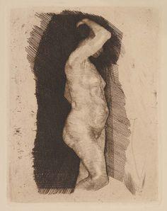 Female Figure Etching; Käthe Kollwitz 1891